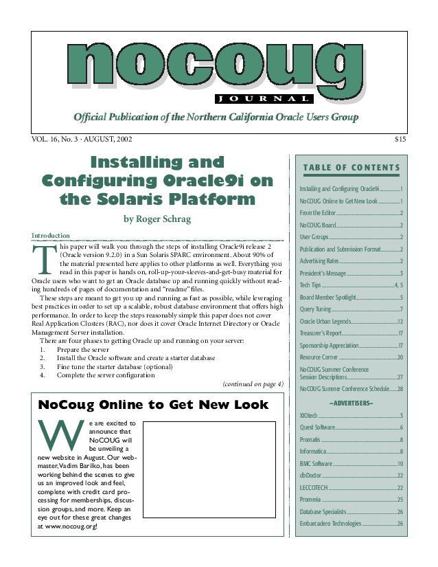 NoCOUG Journal 2002 08