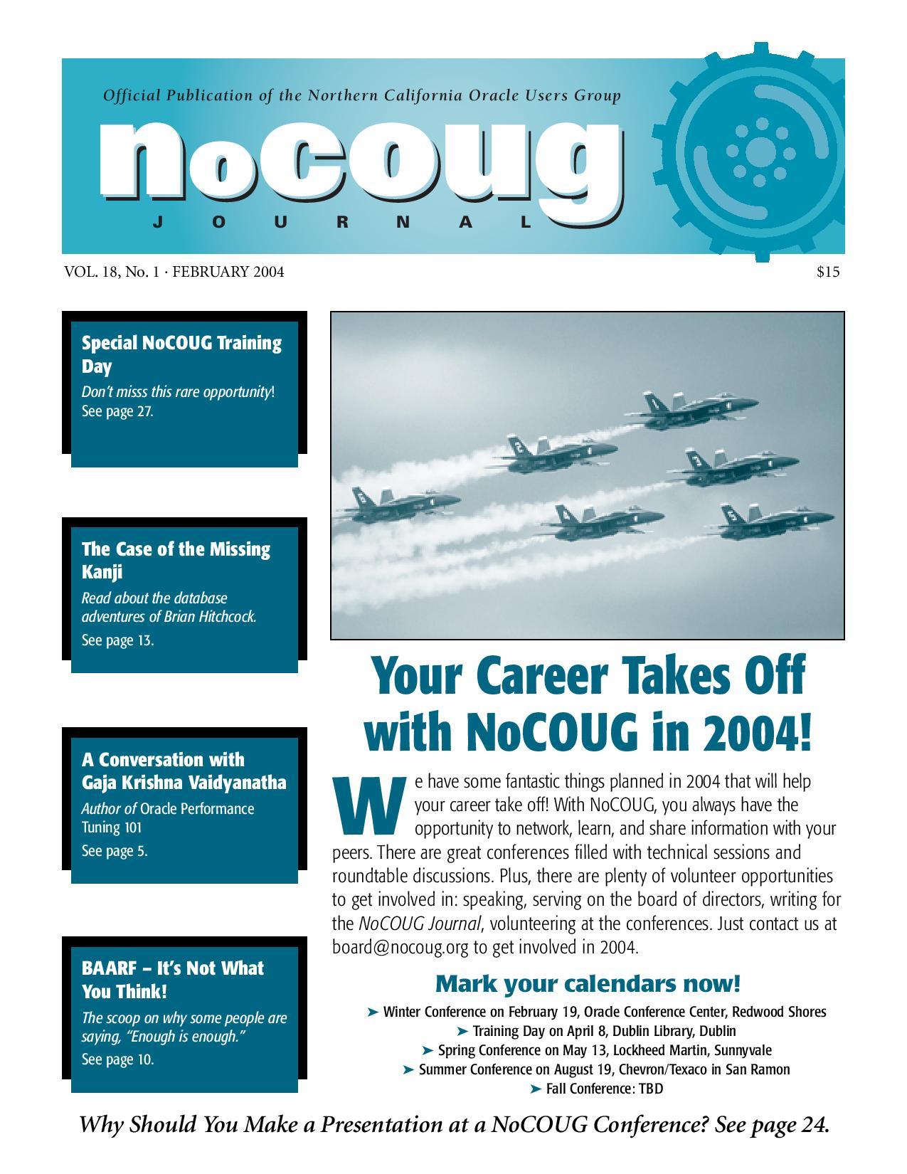 NoCOUG Journal 2004 02