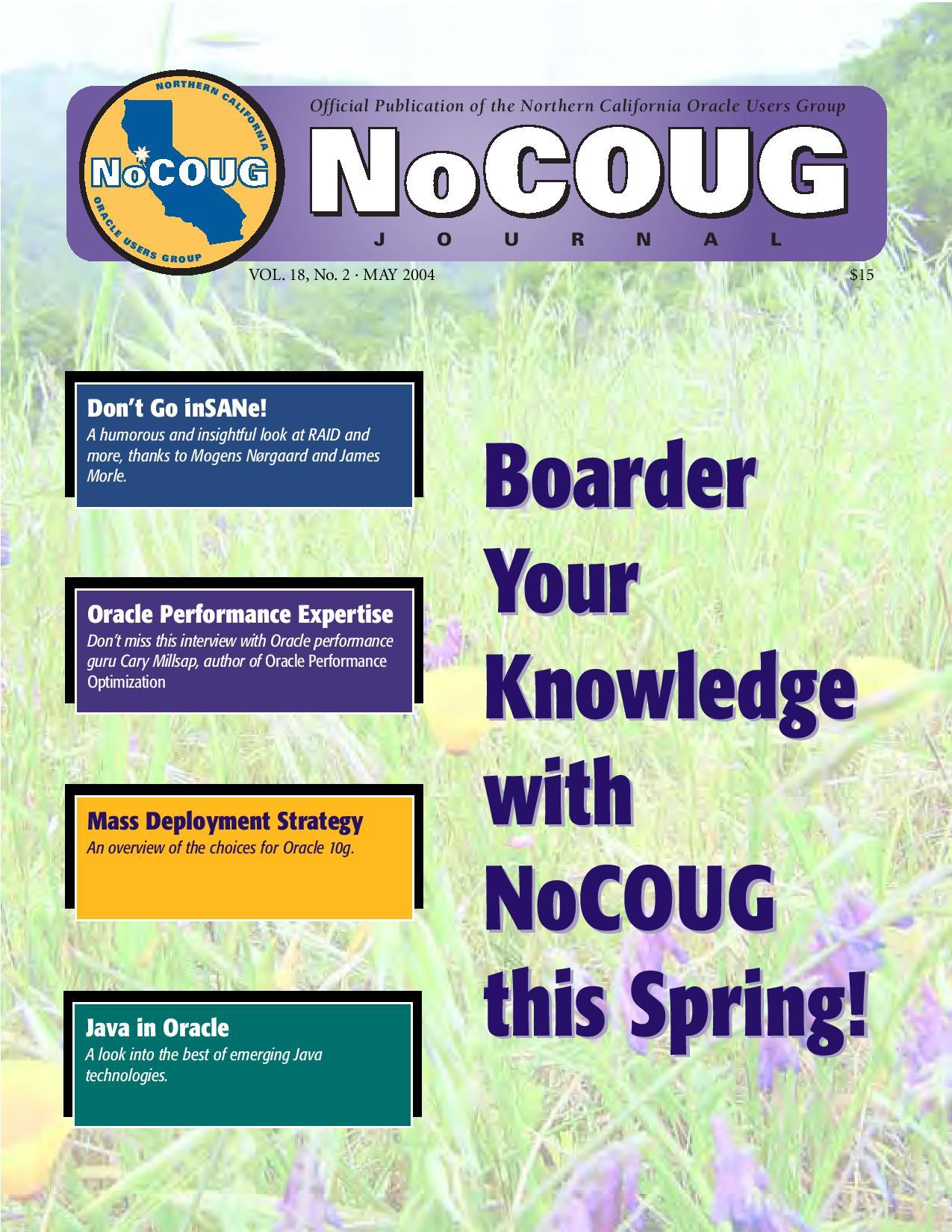 NoCOUG Journal 2004 05