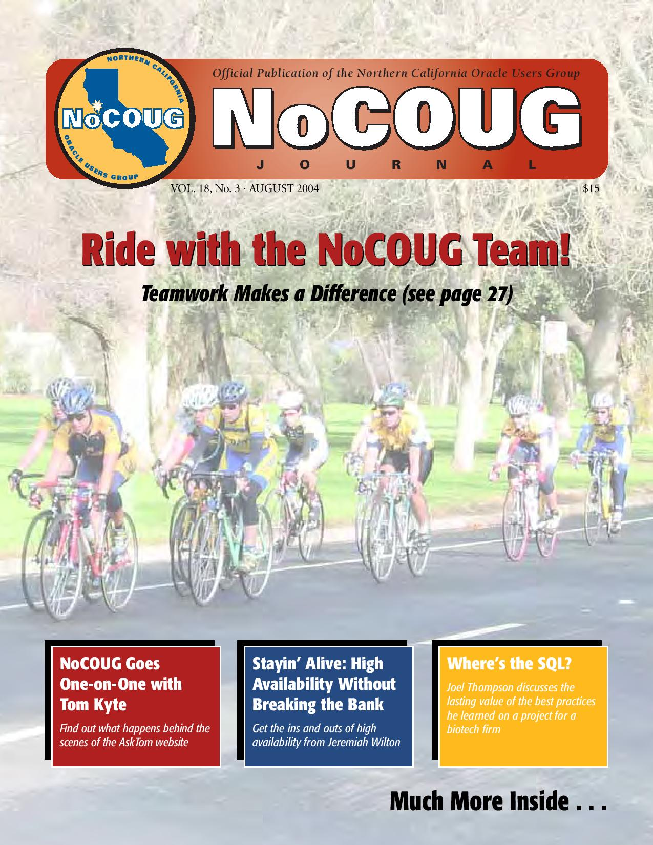 NoCOUG Journal 2004 08