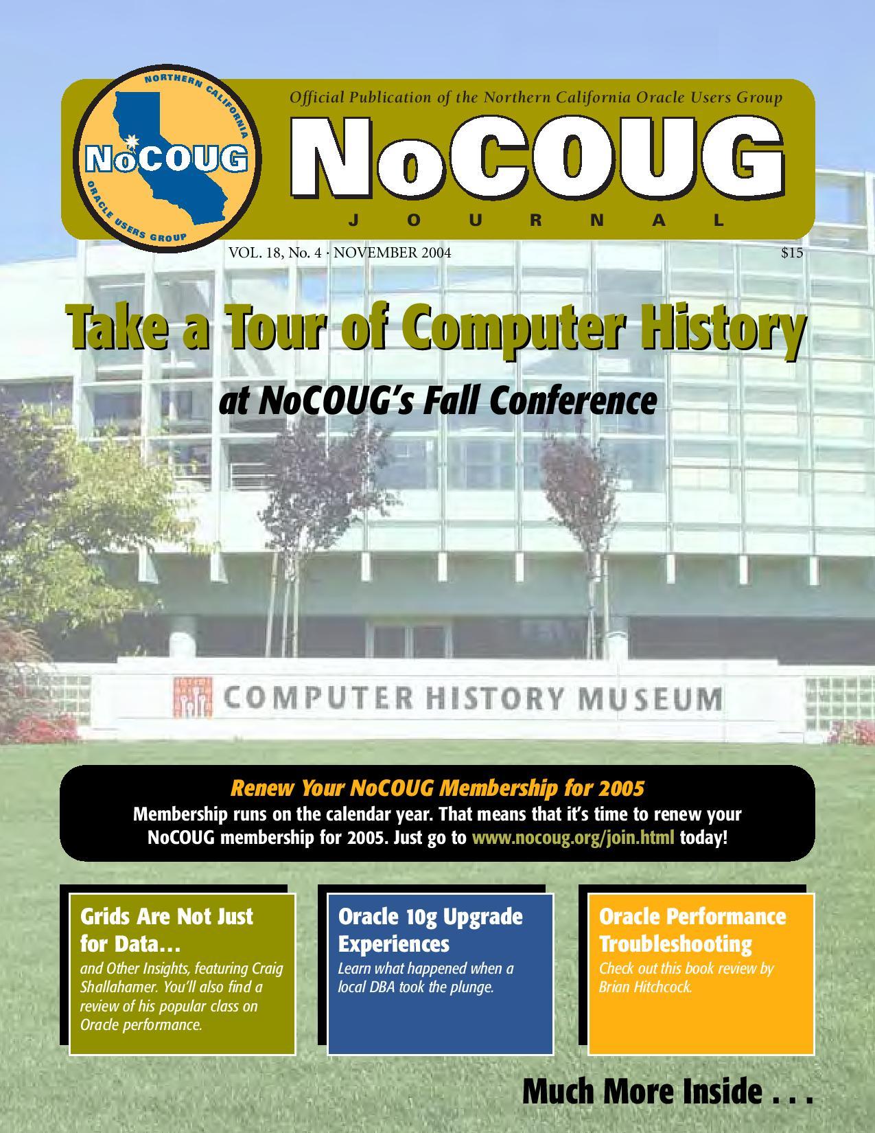 NoCOUG Journal 2004 11