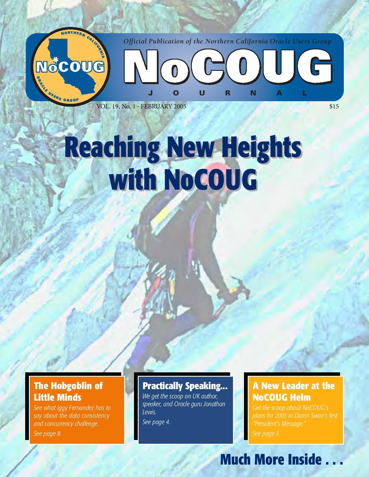 NoCOUG Journal 2005 02