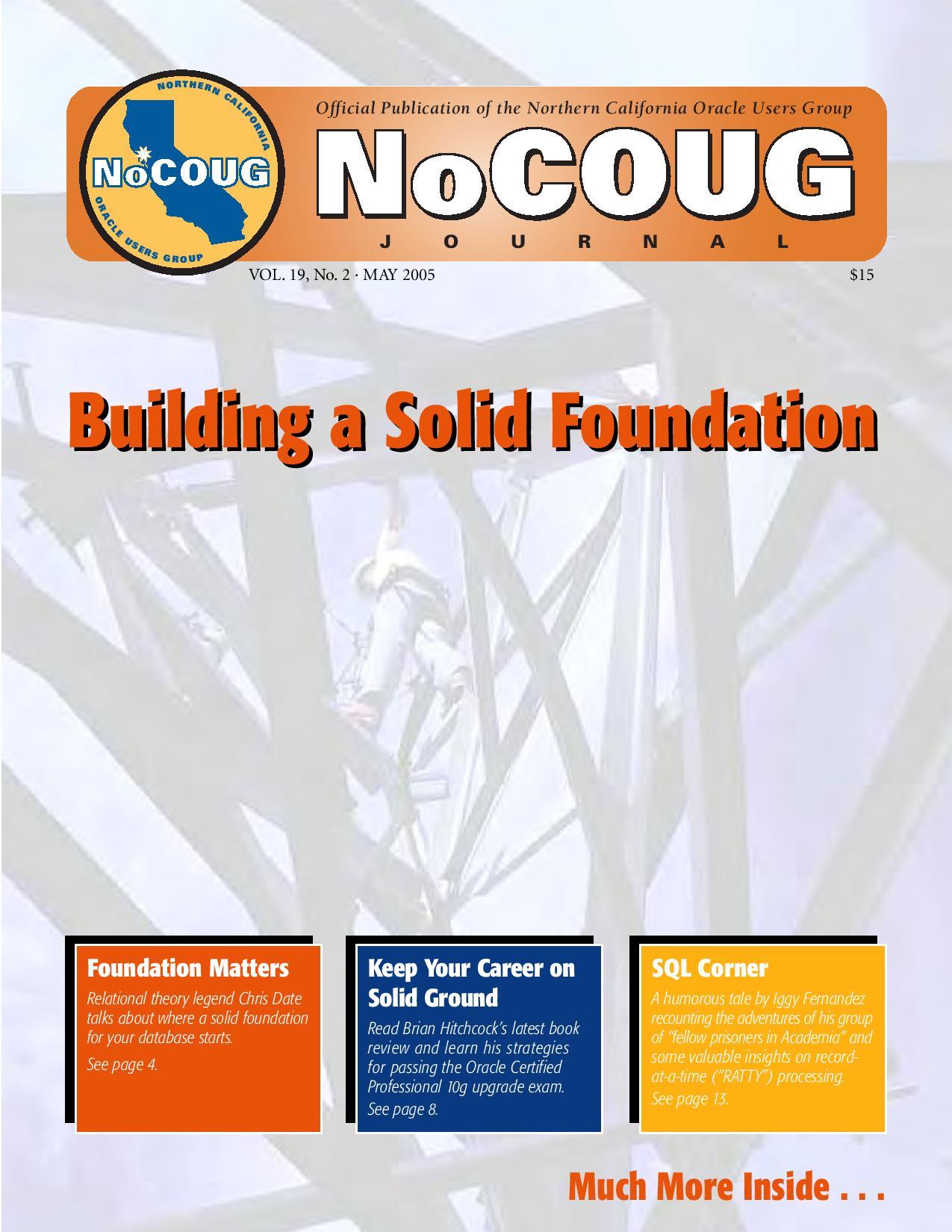 NoCOUG Journal 2005 05