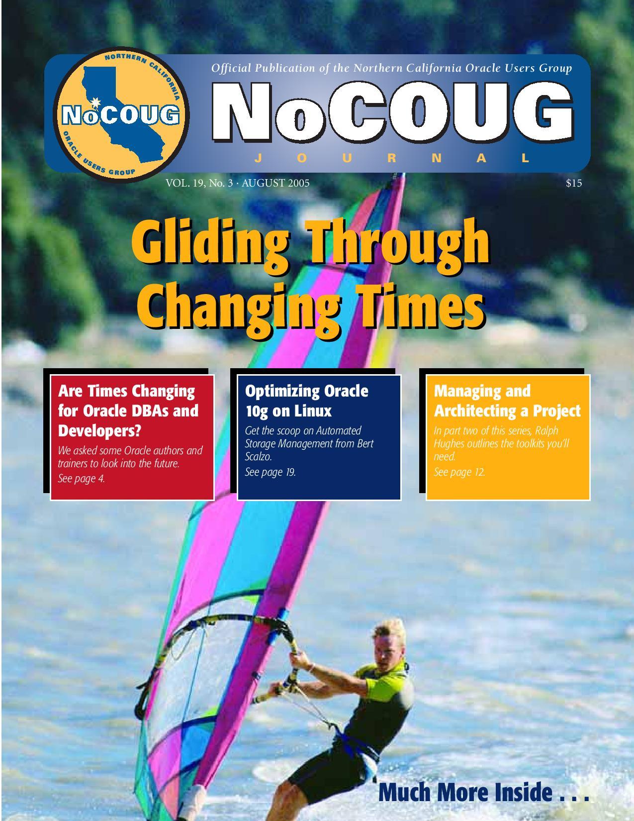 NoCOUG Journal 2005 08