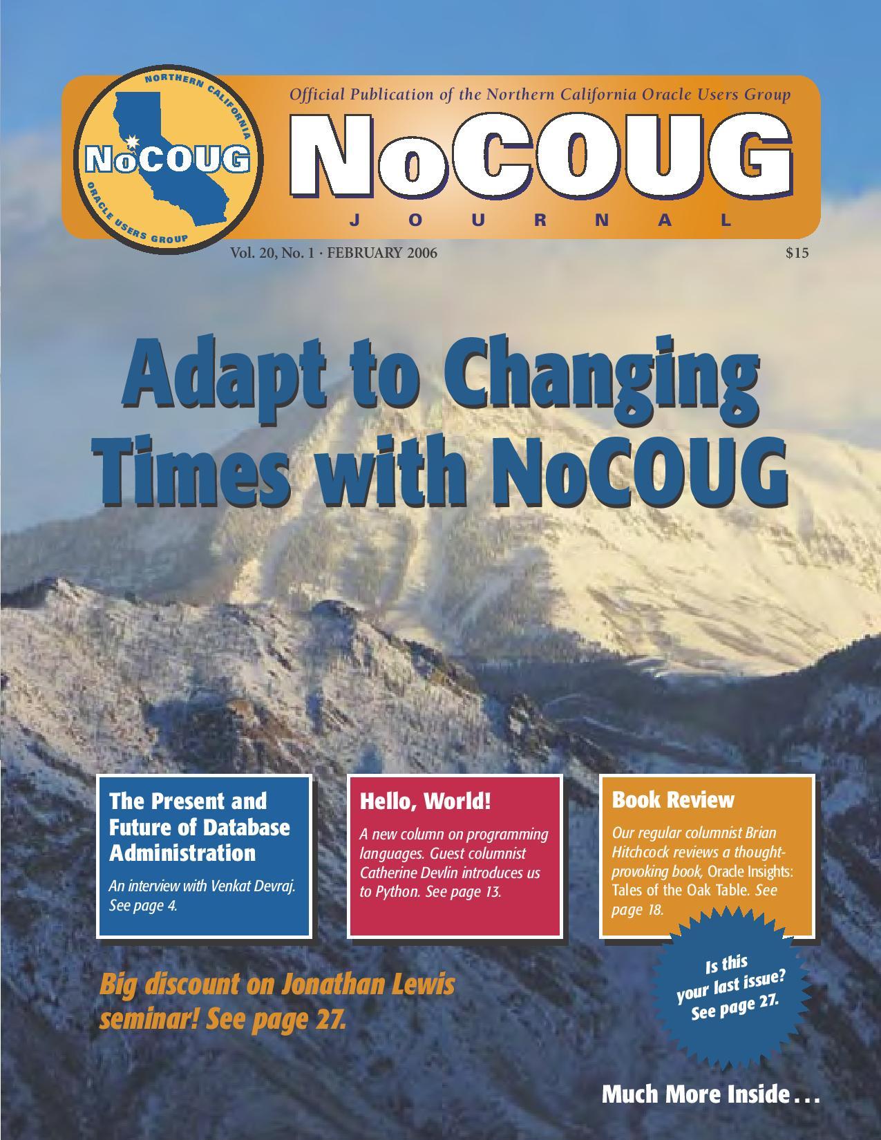 NoCOUG Journal 2006 02