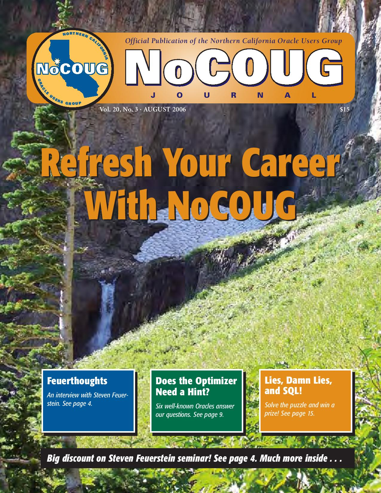 NoCOUG Journal 2006 08