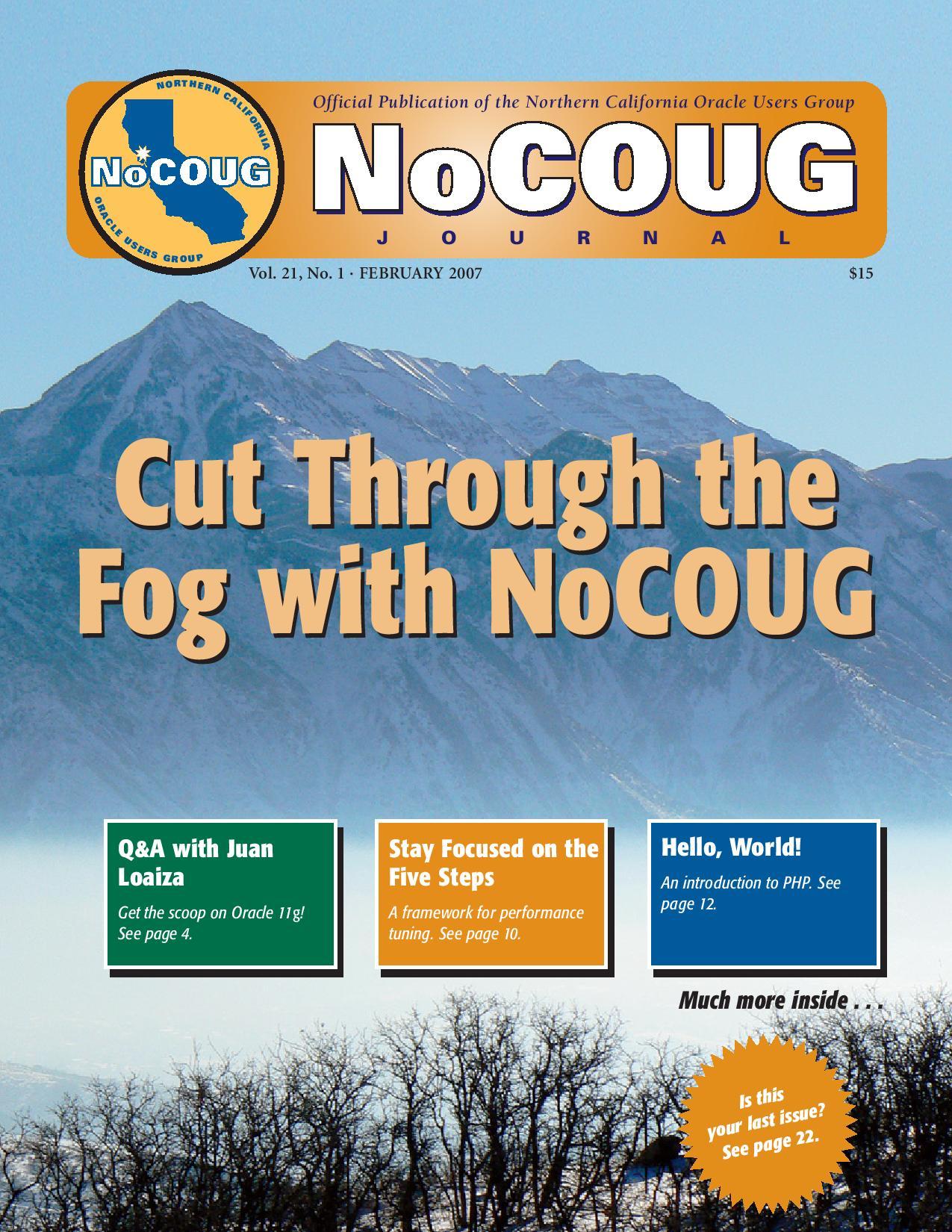 NoCOUG Journal 2007 02