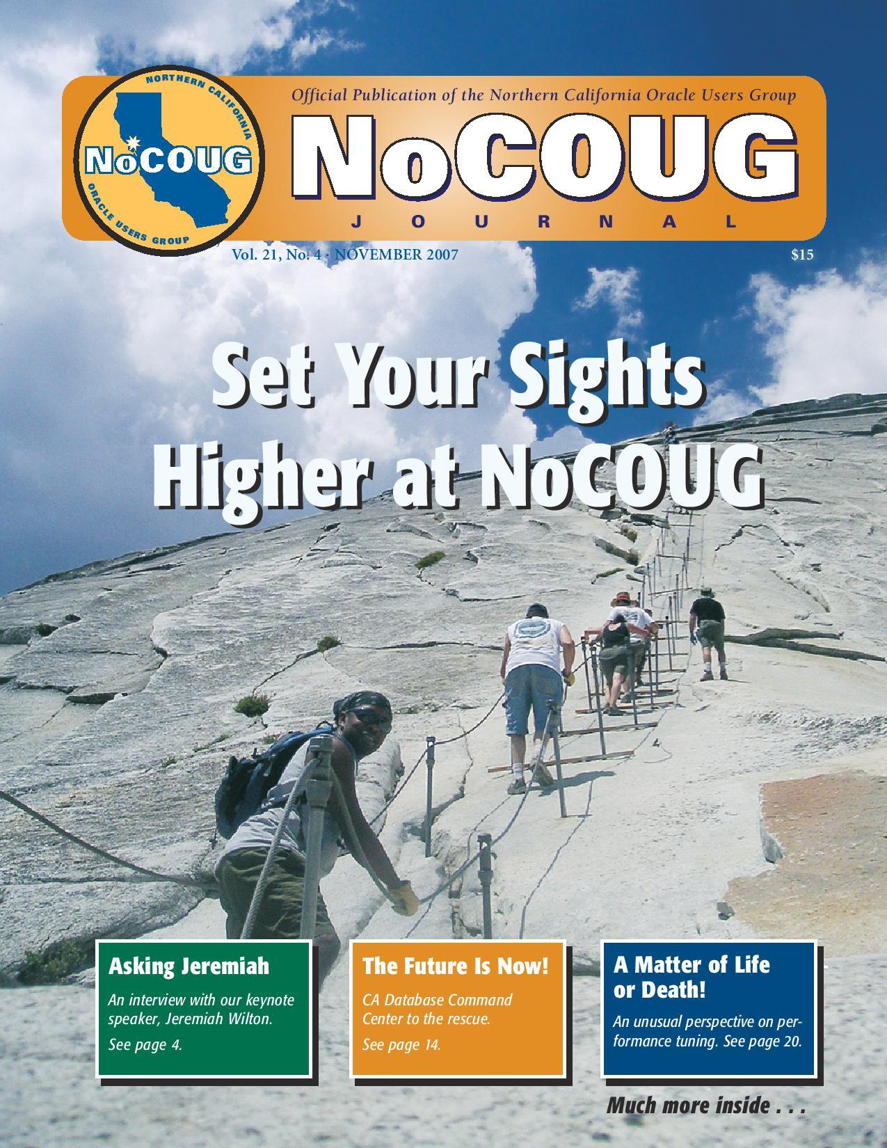 NoCOUG Journal 2007 11