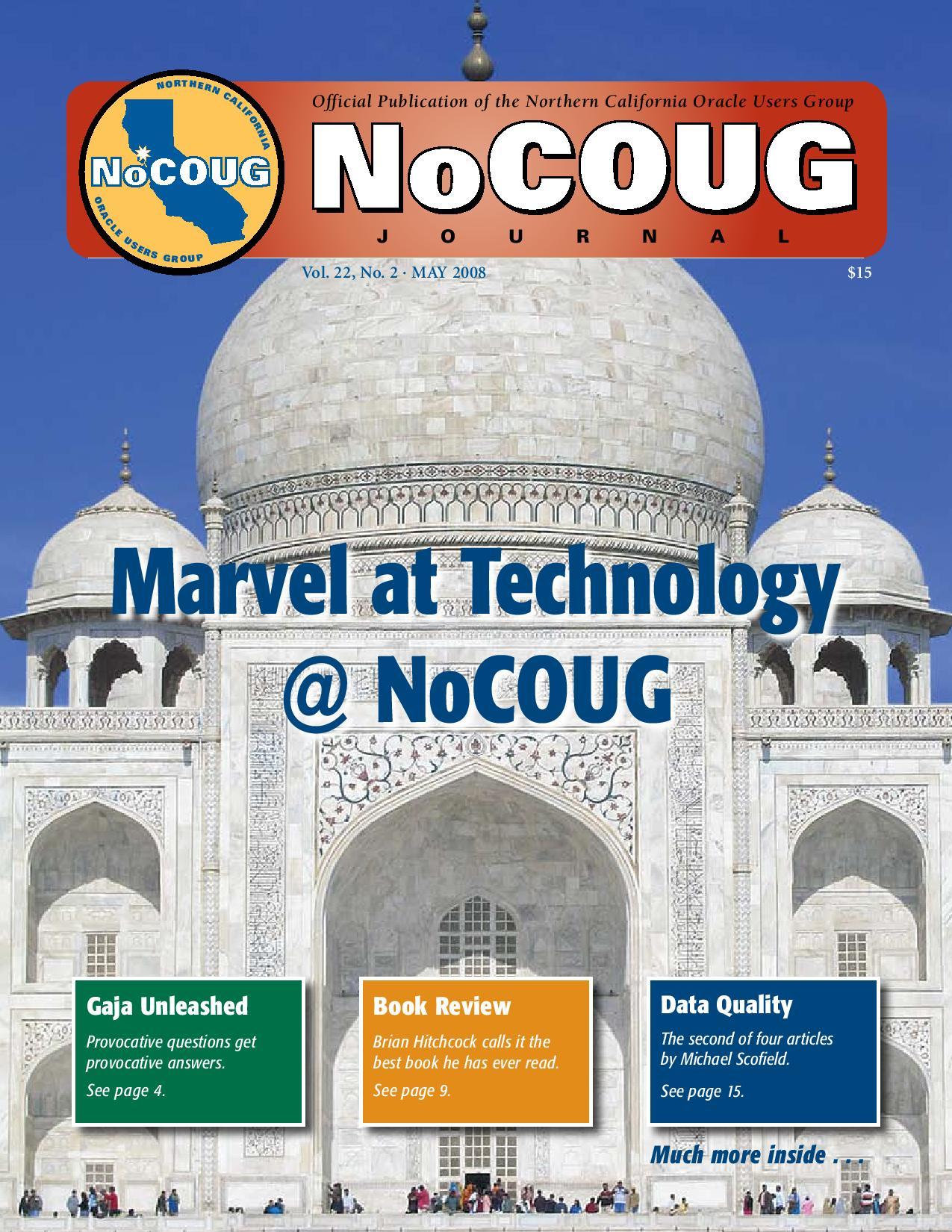 NoCOUG Journal 2008 05