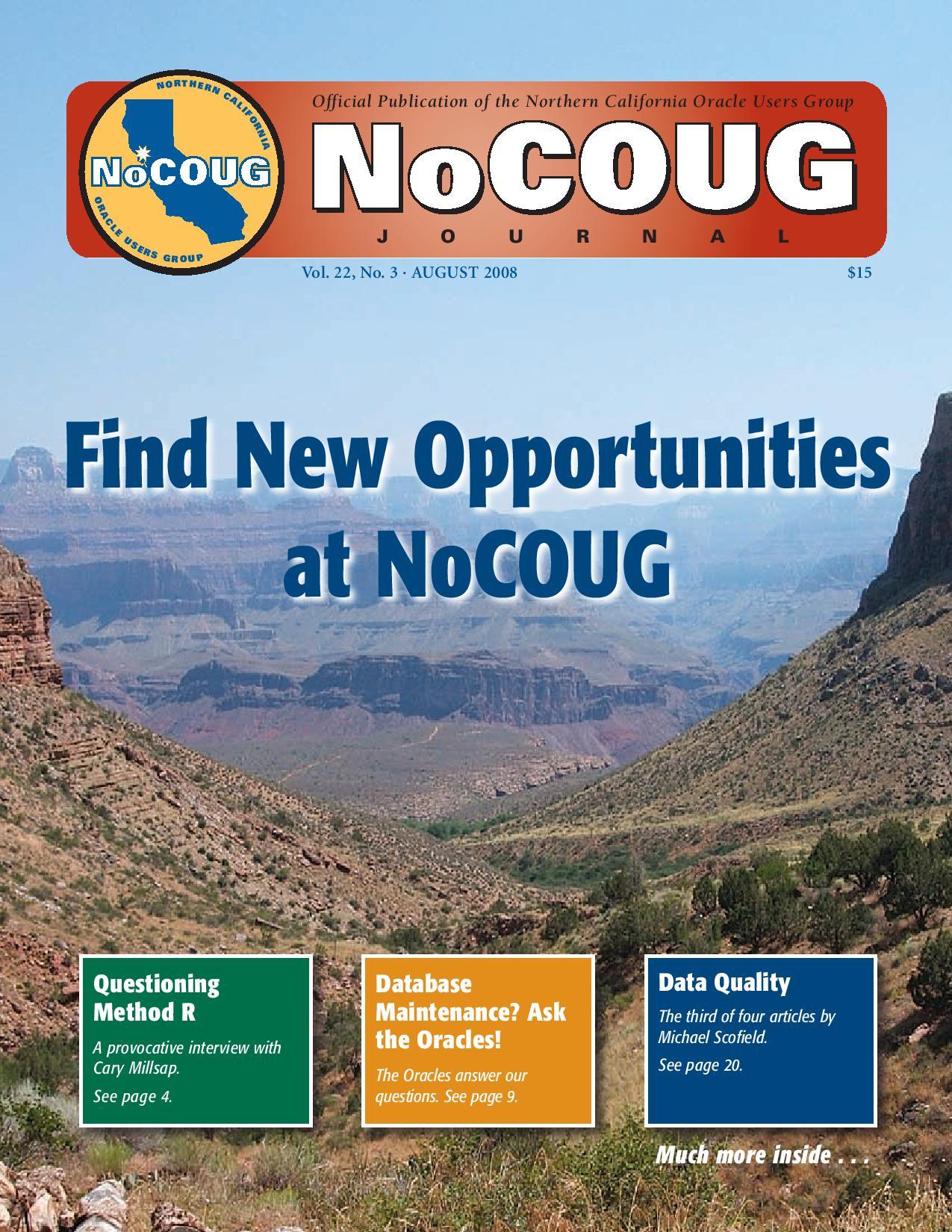 NoCOUG Journal 2008 08