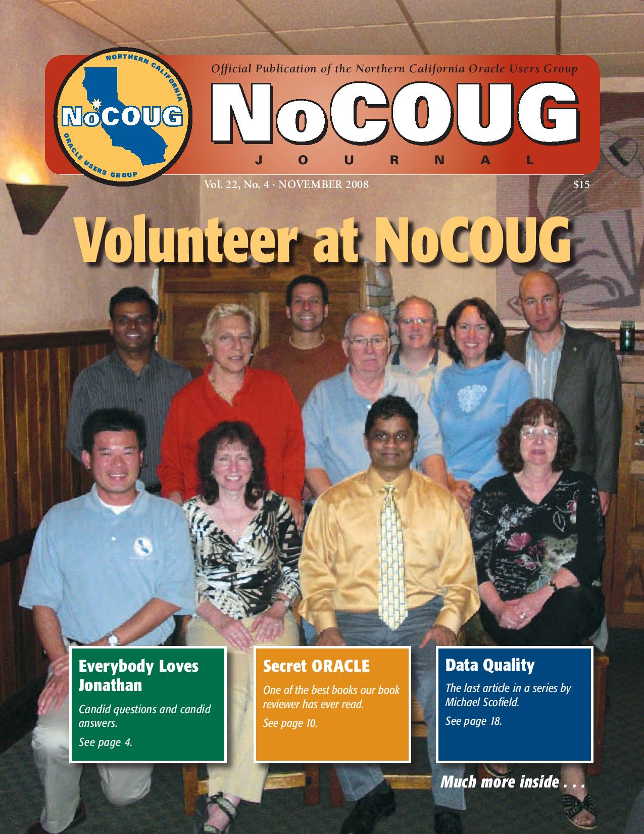 NoCOUG Journal 2008 11