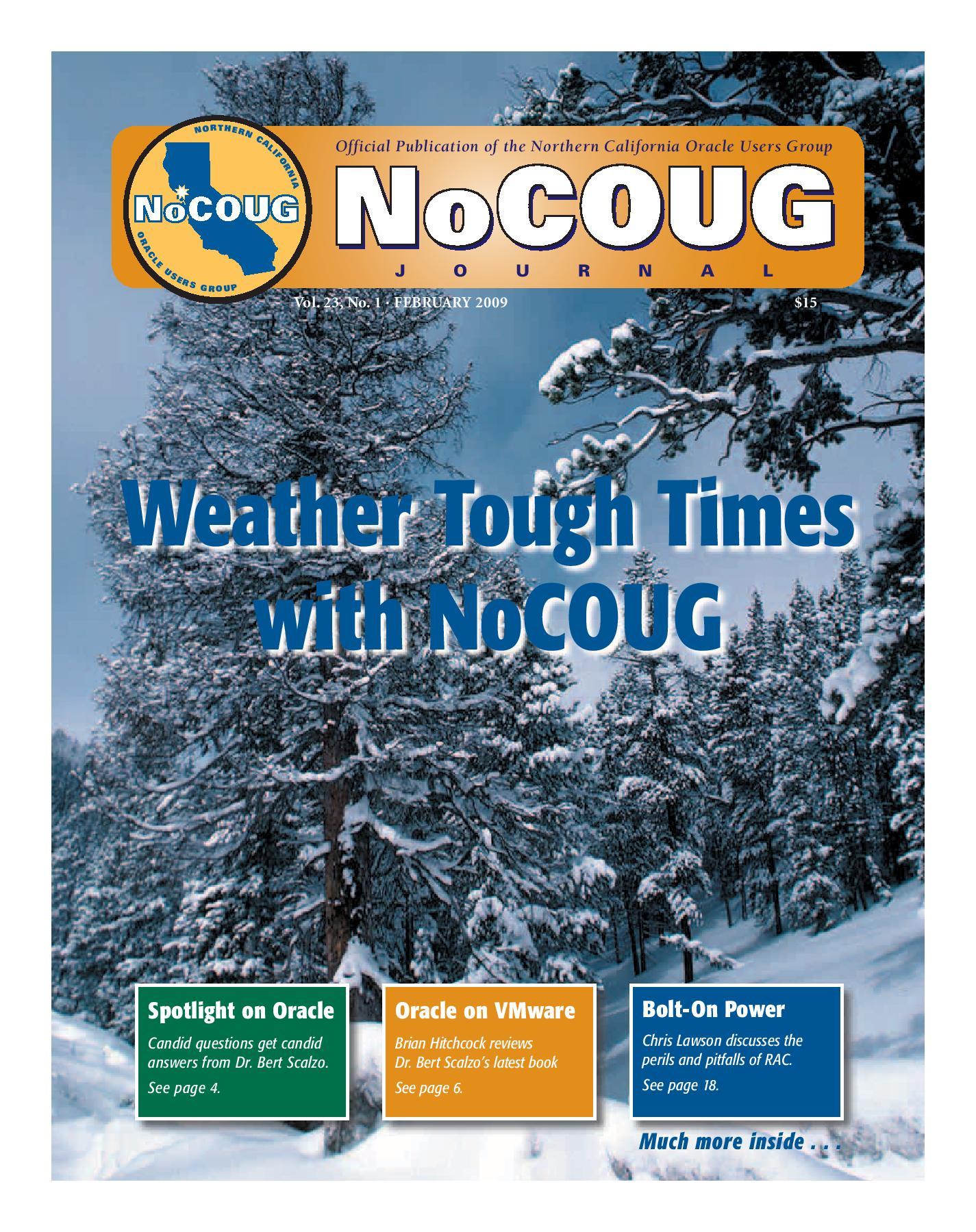 NoCOUG Journal 2009 02