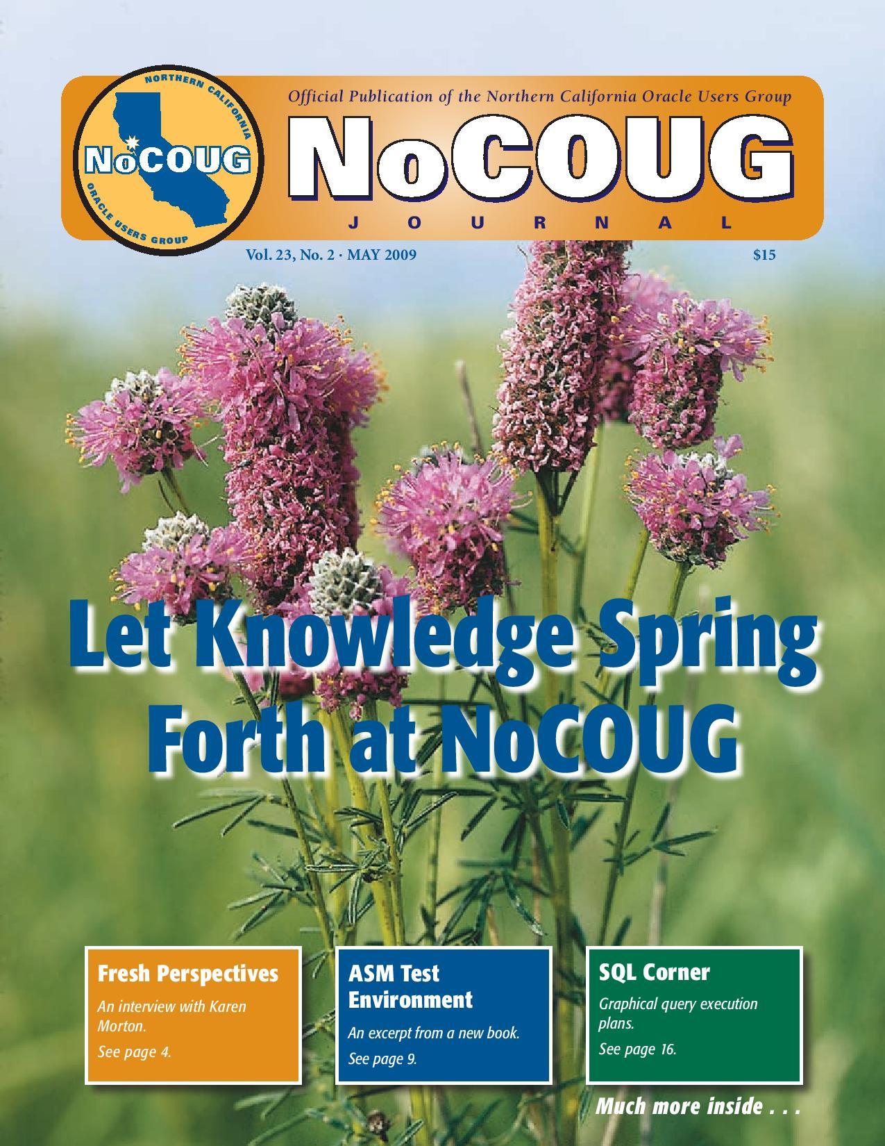 NoCOUG Journal 2009 05