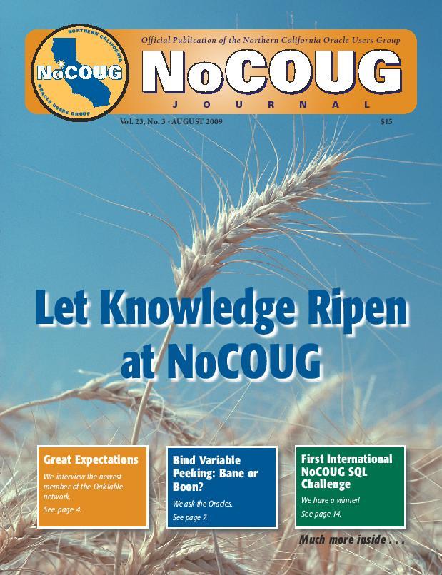 NoCOUG Journal 2009 08