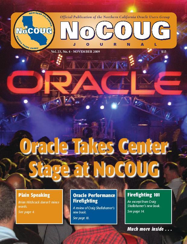 NoCOUG Journal 2009 11