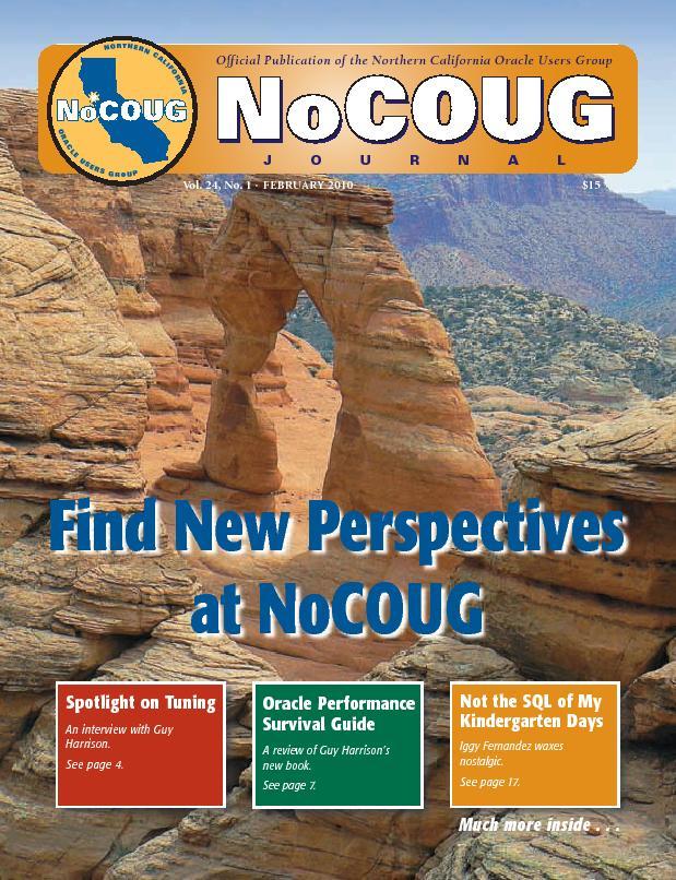 NoCOUG Journal 2010 02