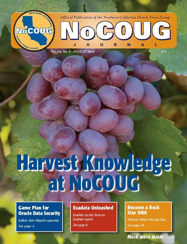 NoCOUG Journal 2010 08