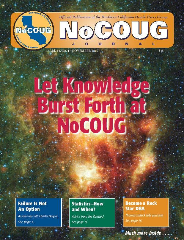 NoCOUG Journal 2010 11