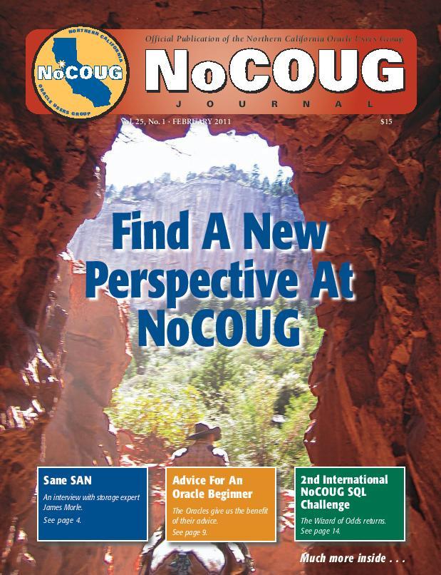 NoCOUG Journal 2011 02