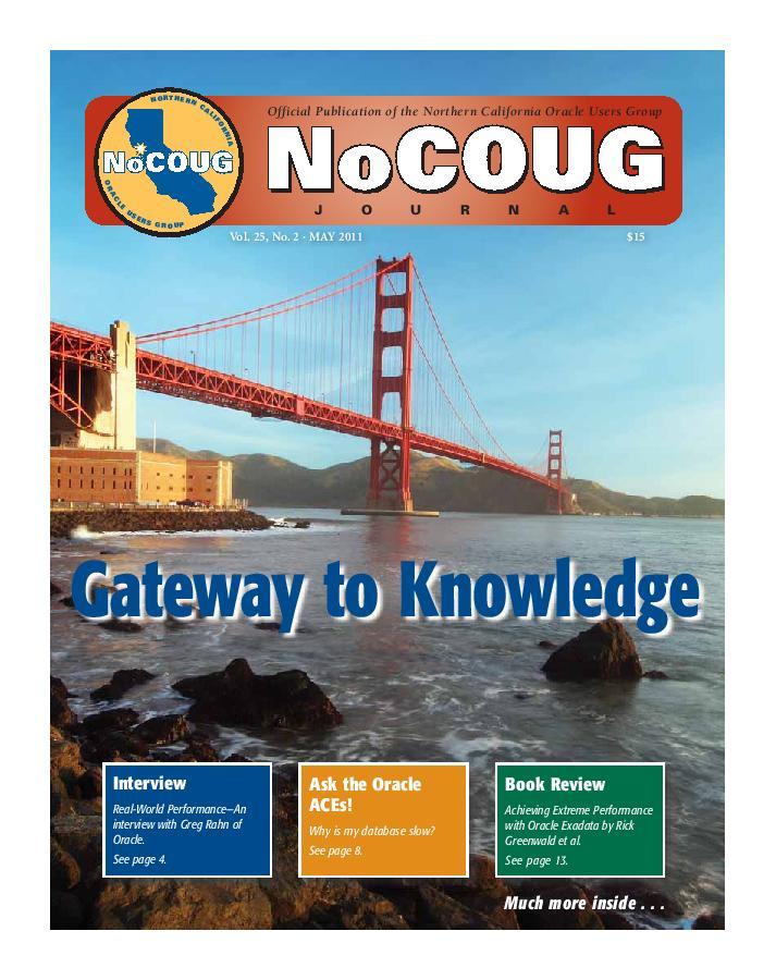 NoCOUG Journal 2011 05