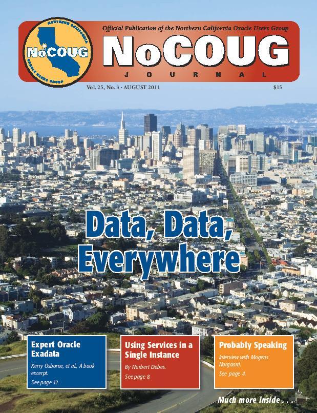 NoCOUG Journal 2011 08
