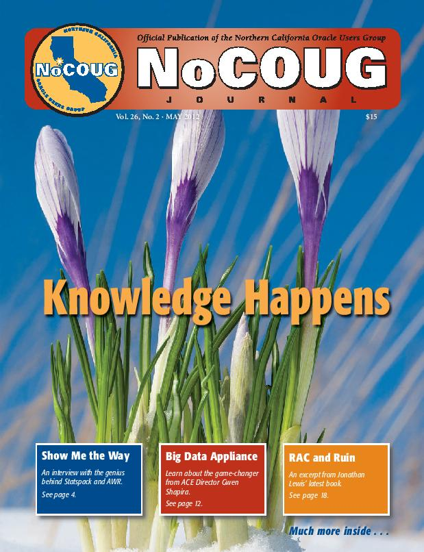 NoCOUG Journal 2012 05