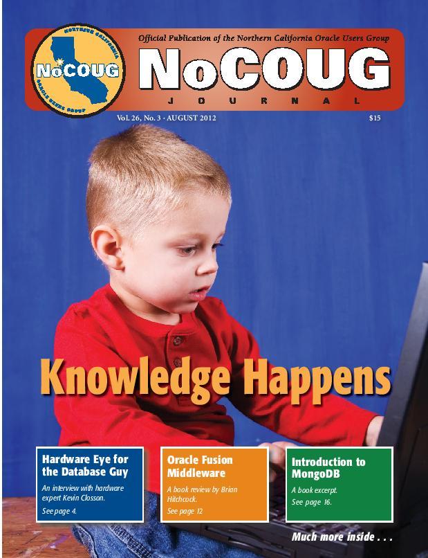 NoCOUG Journal 2012 08