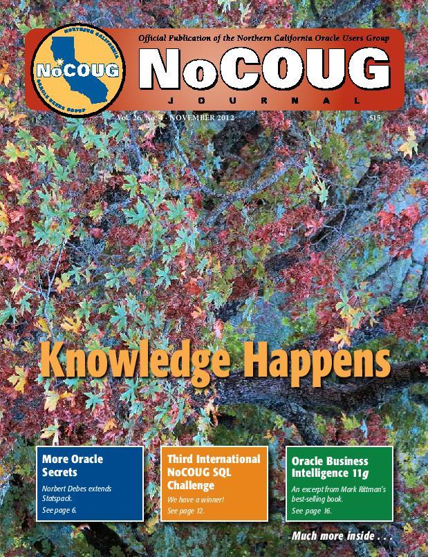 NoCOUG Journal 2012 11