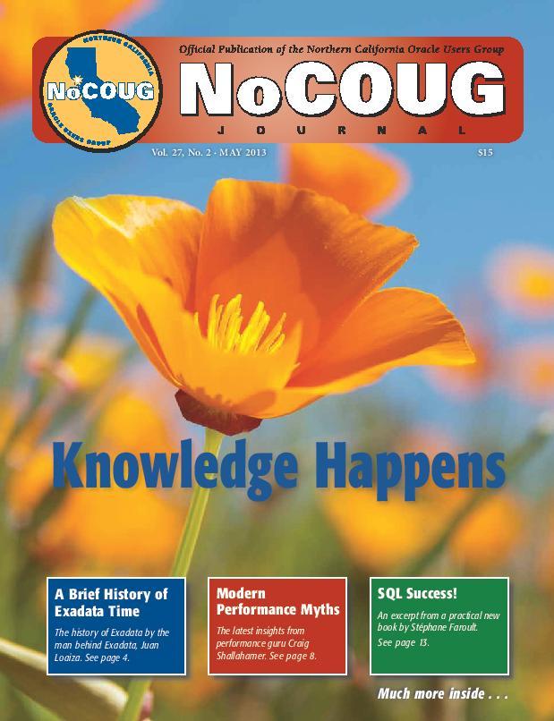 NoCOUG Journal 2013 05