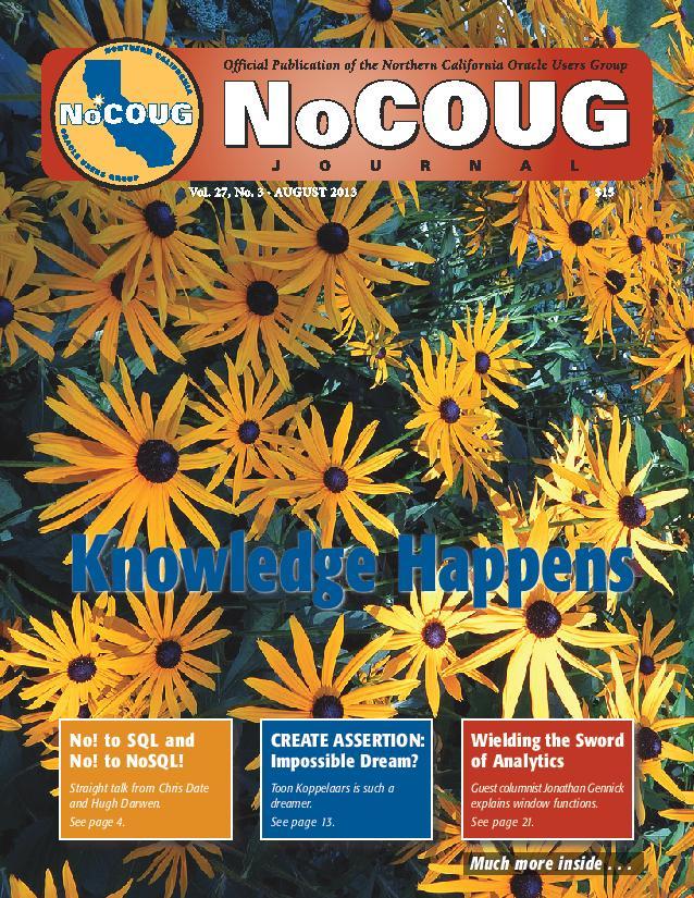 NoCOUG Journal 2013 08