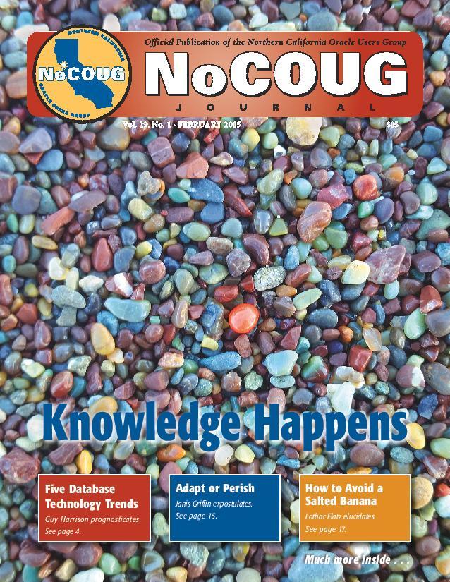 NoCOUG Journal 2015 02