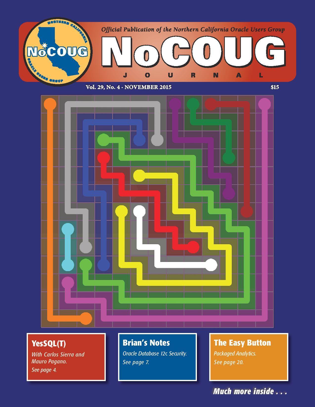 NoCOUG Journal 2015 11