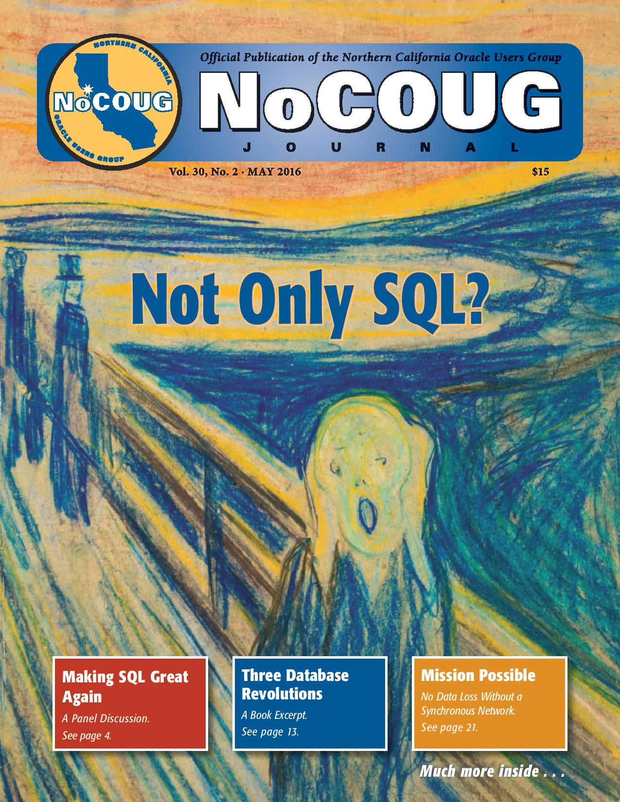 NoCOUG Journal 2016 05