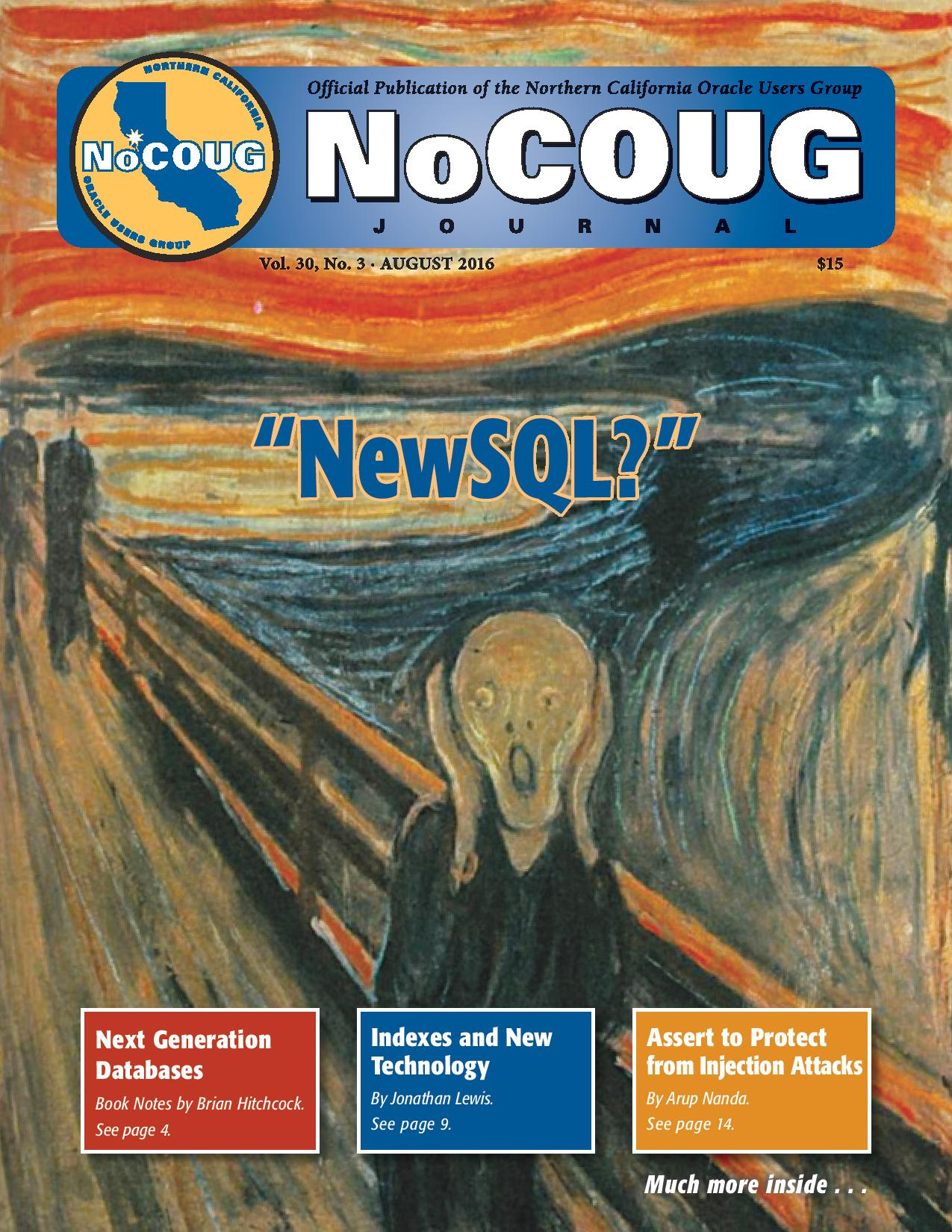 NoCOUG Journal 2016 08